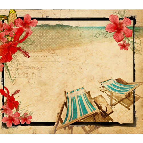 Kaisercraft - Tropicana Collection - 12 x 12 D-Ring Album
