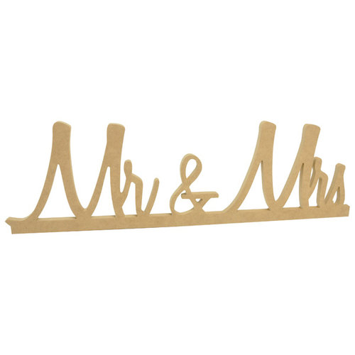 Kaisercraft - Beyond the Page Collection - Mr and Mrs Standing Word