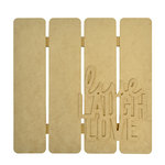Kaisercraft - Beyond the Page Collection - 3 Dimensional Wall Art - Live, Laugh, Love