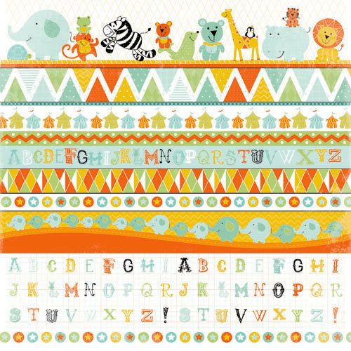 Kaisercraft - Party Animals Collection - 12 x 12 Sticker Sheet