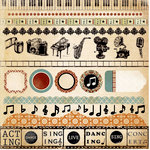 Kaisercraft - Velvet Ensemble Collection - 12 x 12 Sticker Sheet