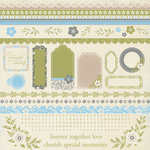 Kaisercraft - Blae and Ivy Collection - 12 x 12 Sticker Sheet