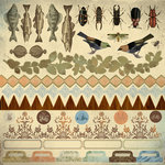 Kaisercraft - Hunt and Gather Collection - 12 x 12 Stickers Sheet