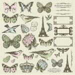 Kaisercraft - Bonjour Collection - 12 x 12 Sticker Sheet - Icon