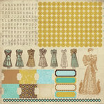 Kaisercraft - Madame Boutique Collection - 12 x 12 Sticker Sheet - Alphabet