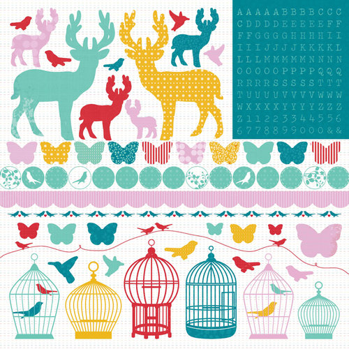 Kaisercraft - Hummingbird Collection - 12 x 12 Sticker Sheet