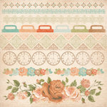 Kaisercraft - These Days Collection - 12 x 12 Sticker Sheet