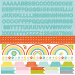 Kaisercraft - Fine and Sunny Collection - 12 x 12 Sticker Sheet - Alphabet