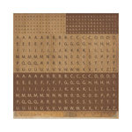 Kaisercraft - Timeless Collection - 12 x 12 Sticker Sheet - Scrabble