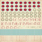 Kaisercraft - Just Believe Collection - Christmas - 12 x 12 Sticker Sheet - Alphabet