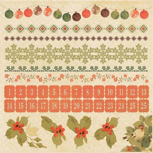 Kaisercraft - Merry and Bright Collection - Christmas - 12 x 12 Cardstock Sticker Sheet