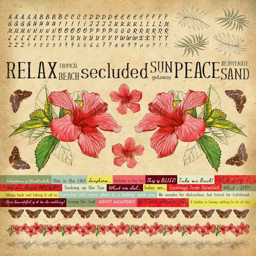 Kaisercraft - Tropicana Collection - 12 x 12 Cardstock Sticker Sheet