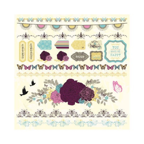 Kaisercraft - Botanical Odyssey - 12 x 12 Sticker Sheet