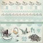 Kaisercraft - Bundle of Joy Collection - 12 x 12 Sticker Sheet - Boy