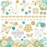Kaisercraft - Elegance Collection - 12 x 12 Sticker Sheet