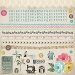 Kaisercraft - Needle and Thread Collection - 12 x 12 Sticker Sheet