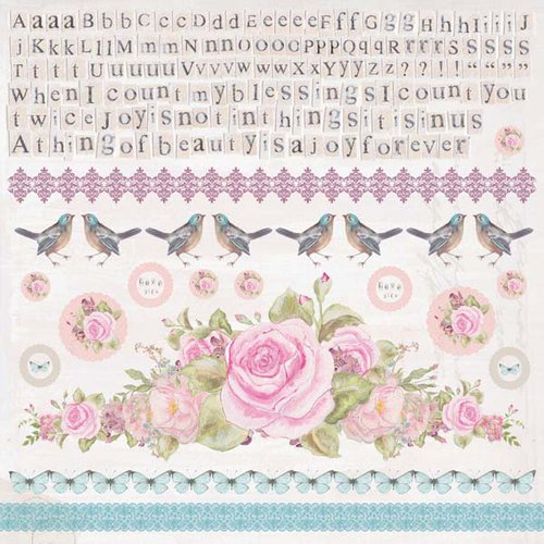 Kaisercraft - True Romance Collection - 12 x 12 Sticker Sheet
