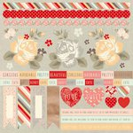 Kaisercraft - Sweet Pea Collection - 12 x 12 Sticker Sheet