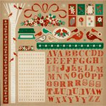 Kaisercraft - Holly Bright Collection - Christmas - 12 x 12 Sticker Sheet