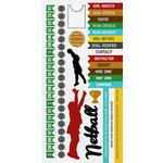 Kaisercraft - Game On Collection - Sticker Sheet - Netball