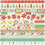 Kaisercraft - Mistletoe Collection - Christmas - 12 x 12 Sticker Sheet