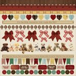 Kaisercraft - Teddy Bears Picnic Collection - 12 x 12 Sticker Sheet