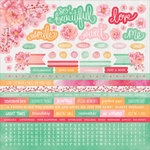 Kaisercraft - Cherry Blossom Collection - 12 x 12 Sticker Sheet