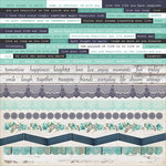 Kaisercraft - Blue Bay Collection - 12 x 12 Sticker Sheet