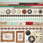 Kaisercraft - Antique Bazaar Collection - 12 x 12 Sticker Sheet