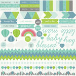 Kaisercraft - Little One Collection - 12 x 12 Sticker Sheet - Boy