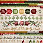 Kaisercraft - Holy Night Collection - Christmas - 12 x 12 Sticker Sheet