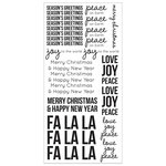 Kaisercraft - Christmas - Clear Stickers - Seasons Greetings