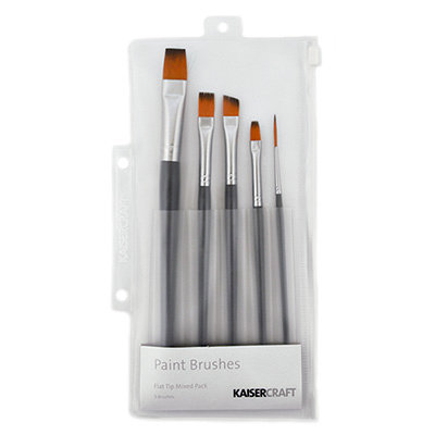 Kaisercraft - Paint Brush Set - Mixed Flat Tip