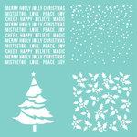 Kaisercraft - 12 x 12 Stencils Template - Christmas Quarters