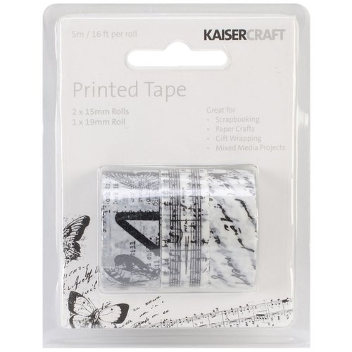 Kaisercraft - Printed Tape - Black