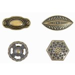Kaisercraft - Kaisertreasures - Metal Door Knobs - Brass