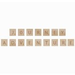 Kaisercraft - Flourishes - Square Wooden Letters - Adventure