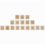 Kaisercraft - Flourishes - Square Wooden Letters - Fun