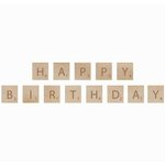Kaisercraft - Flourishes - Square Wooden Letters - Birthday
