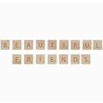 Kaisercraft - Flourishes - Square Wooden Letters - Beautiful