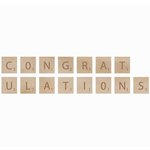 Kaisercraft - Flourishes - Square Wooden Letters - Congratulations