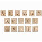 Kaisercraft - Flourishes - Square Wooden Letters - Cheeky