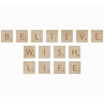 Kaisercraft - Flourishes - Square Wooden Letters - Believe