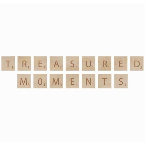 Kaisercraft - Flourishes - Square Wooden Letters - Treasured