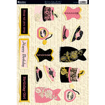 Kanban Crafts - Shabby Chic Collection - Die Cut Punchouts with Foil Accents - Dress-Up - Pink
