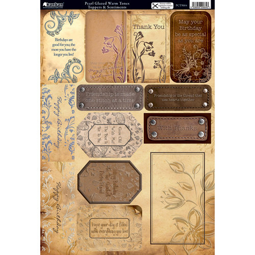 Kanban Crafts - Vintage Collection - Die Cut Punchouts with Gloss Accents - Warm Tones