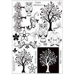 Kanban Crafts - Seasons Collection - Clear Acrylic Stamps - Autumn - Garden Vistas