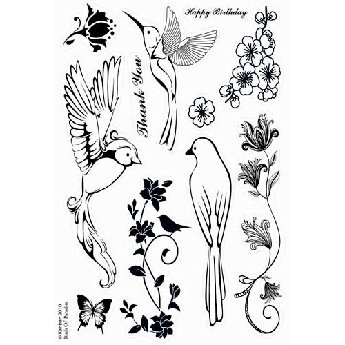 Kanban Crafts - Birds of Paradise Collection - Clear Acrylic Stamps - Birds of Paradise