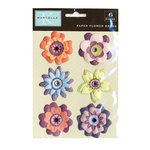 K and Company - Marcella Collection - Paper Flower Brads - Marmelade