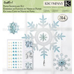 K and Company - Swell Noel Collection - 12 x 12 Paper Pad - Snowflake Crafting Kit